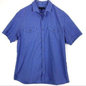 Banana Republic Blue Picnic Short Sleeve Shirt